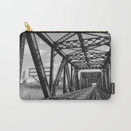 Train Bridge 3 - B&W Carry-All Pouch