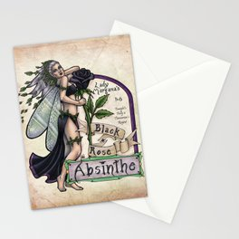 Black Rose Absinthe by Bobbie Berendson W Stationery Cards