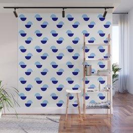 Wild polka dot 1- Blue Wall Mural