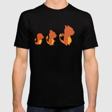 Evolution fire Black MEDIUM Mens Fitted Tee