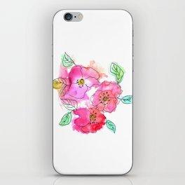 Pink Watercolor Flowers // Floral Feelings iPhone Skin