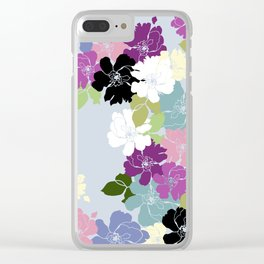 Purple Poppy Toss Clear iPhone Case