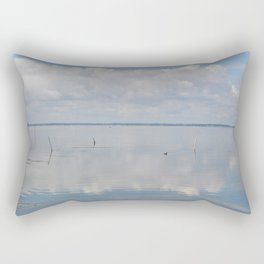 Picture Perfect Blue Sky Water Bay Scene Landscape  Rectangular Pillow