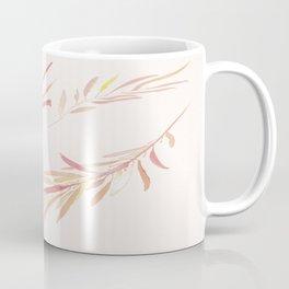 Eucalyptus Leaves Pink Coffee Mug