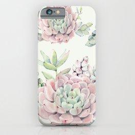 Pink Echeveria Light Green #society6 #buyart iPhone Case