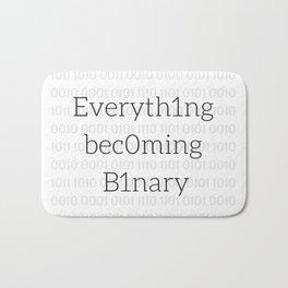 Everything Becoming Binary Bath Mat