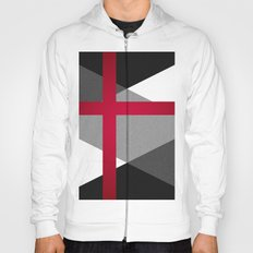 Black and White Triangles // Red Pink Cross (Golden Ration) Hoody