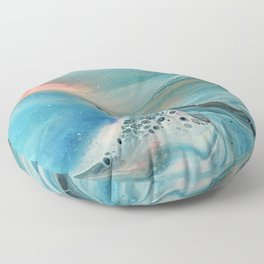 Pearl marble abstraction Floor Pillow