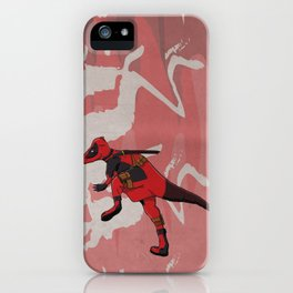 Deadpachycepoolosaurus - Superhero Dinosaurs Series iPhone Case