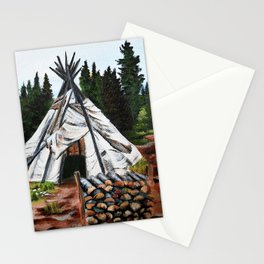 Walking Out Ceremony Teepee Stationery Cards