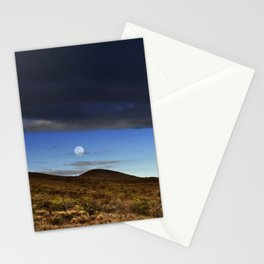 Moon Over The Slopes Of Mauna Kea Stationery Cards