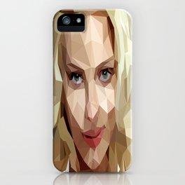 Scarlett Johansson Low Poly Art iPhone Case