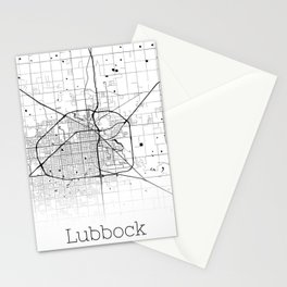 Map of the City Neck Gaiter Lubbock Texas Map Neck Gator Stationery Cards