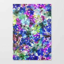 Blue Butterfly Garden Canvas Print