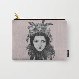 Dame Vogel Schädel Carry-All Pouch