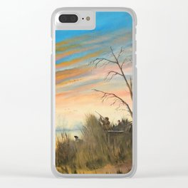 Evening Duck Hunters Clear iPhone Case