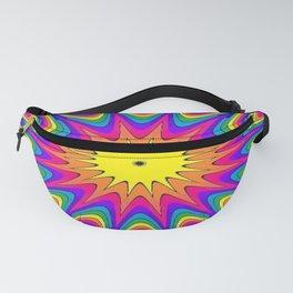 Mandala : rainbow stripes star explosion Fanny Pack