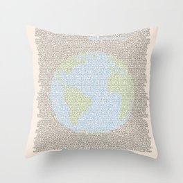Environmental Consciousness Throw Pillow