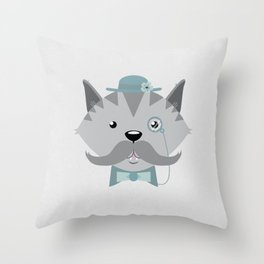 Mr. Pipsey Throw Pillow
