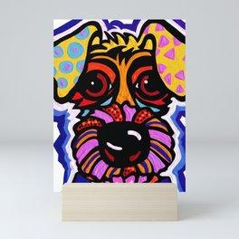 Rover Terrier Dog Airedale Wheaton Lakeland Kerry Schnauzer Fox Puppy Pet Animal Mini Art Print