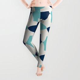 Alhambra Motif Blue Palette Leggings