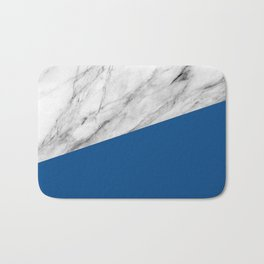 Marble and Lapis Blue Color Bath Mat