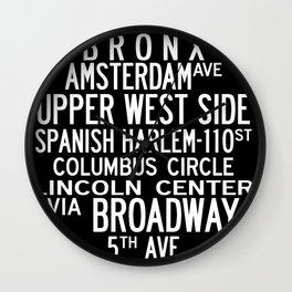 NYC Salsa Wall Clock