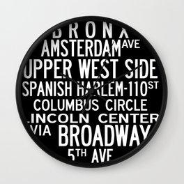 NYC Salsa Wall Clock