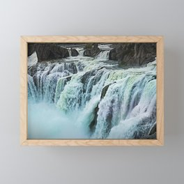 Shoshone Falls Park falls idaho Framed Mini Art Print