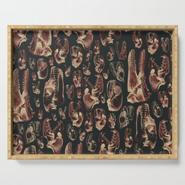 Carnivore RED MEAT / Animal skull illustrations from the top of the food chain Serving Tray