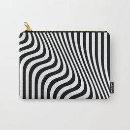 Optical Art - Blac kand White - Monochrome - Liquid  - art, interior, drawing, decor, design, bauhau Carry-All Pouch