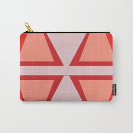 Shades of Red Patchwork Carry-All Pouch
