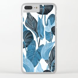 Lush Lily - chambray Clear iPhone Case
