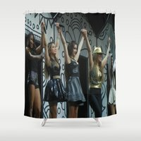 fifth harmony Shower Curtains featuring Fifth Harmony by Halle