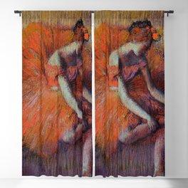"Edgar Degas ""Danseuse rajustant sa sandale"" Blackout Curtain"