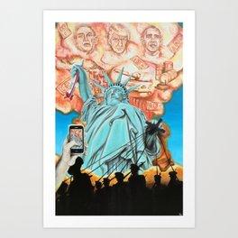 Welcome to America Art Print