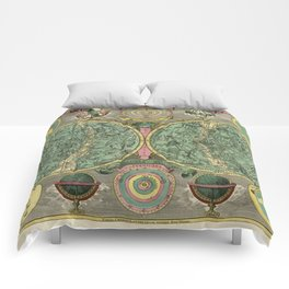 Vintage Astronomy Chart 1772 Comforters