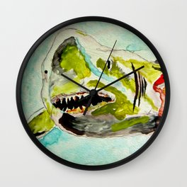 Shark Week - Attacked and bleeding Wall Clock