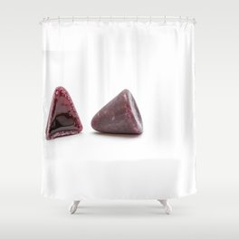 This pyramidal cuberdons Shower Curtain