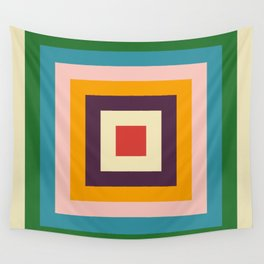 Retro Colored Square Space Wall Tapestry