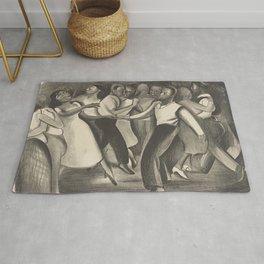 Harlem Street Dance Vintage Illustration Rug