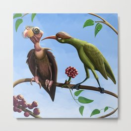 Whimsical  birds Metal Print