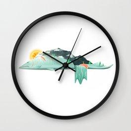 Salmon River Hills Wall Clock