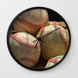 Baseballs and Glove Wall Clock