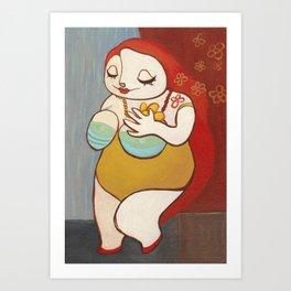 A HAPPY WOMAN Art Print