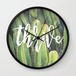 MANTRA SERIES: Thrive Wall Clock