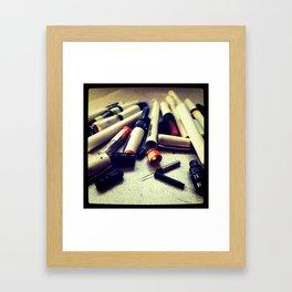 Rapidograph Graveyard Framed Art Print