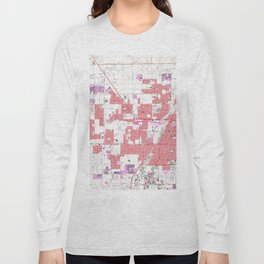 Vintage Map of Las Vegas Nevada (1967) 2 Long Sleeve T-shirt