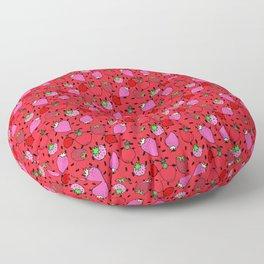 Strawberry Pattern Floor Pillow