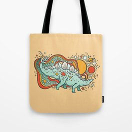 Star Stego | Retro Reptile Palette Tote Bag